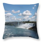 Falls- American Side  Throw Pillow