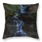 Falls At 6 Mile Creek Ithaca N.y. Throw Pillow
