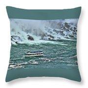 Falls Boat Throw Pillow