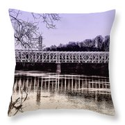 Falls Bridge Throw Pillow