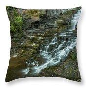 Falls Creek Gorge Trail Throw Pillow