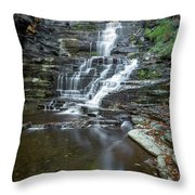 Falls Creek Gorge Trail Reflection Throw Pillow