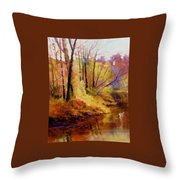 Fall's Creekside Throw Pillow