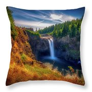 Falls From Up High Throw Pillow