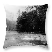 Falls In Creek Downstream From Glen Throw Pillow
