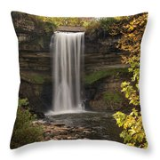 Falls In The Fall Throw Pillow