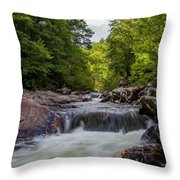 Falls In The Mountains Throw Pillow