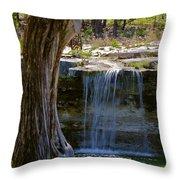 Falls Into Cow Creek Throw Pillow