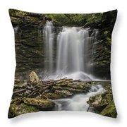 Falls Of Hills Creek 2  Throw Pillow