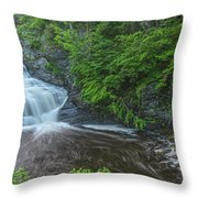 Falls Of Mystery Throw Pillow