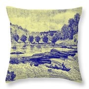 Falls Of The Schuylkill And Fort St Davids 1794 Throw Pillow