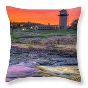 Falls Park Sunset Throw Pillow