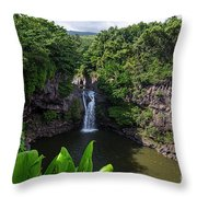 Falls Seven Sacrad Pools 2 Throw Pillow