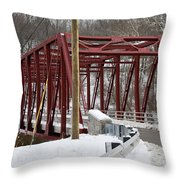 Falls Village Bridge 1 Throw Pillow