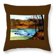 Fallsburg Ky Falls Throw Pillow