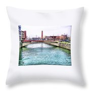 Fallswalk And Shot Tower Throw Pillow