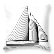 Falmouth Oyster Boat Throw Pillow