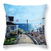 Falmouth Road Race 2015 Throw Pillow