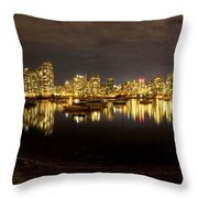 False Creek At Night Throw Pillow