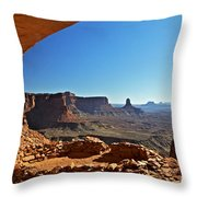 False Kiva Moab Utah Throw Pillow