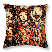 Family And Friends Throw Pillow