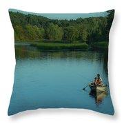 Family Fishing Throw Pillow