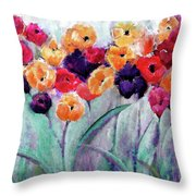 Family Gathering Painting By Lisa Kaiser Throw Pillow