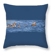Family Geese Throw Pillow