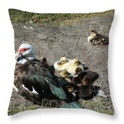Family Loner Throw Pillow