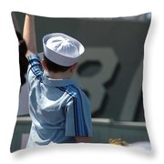 Family Members Welcome Home The Sailors Throw Pillow