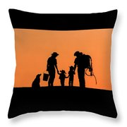 Family Of The West Throw Pillow
