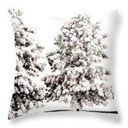 Family Of Trees Throw Pillow