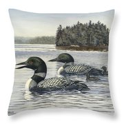 Family Outing Throw Pillow by Richard De Wolfe