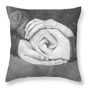 Family Rose Throw Pillow