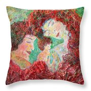 Family Safety Throw Pillow by Naomi Gerrard