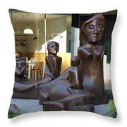 Family Sculpture Throw Pillow