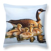 Family Time Throw Pillow by Greg and Linda Halom