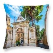 Famous Arc From Basilica Di San Vitale In Ravenna, Italy Throw Pillow