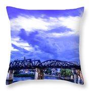 Famous Bridge Throw Pillow