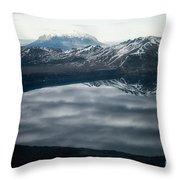 Famous Mountain Askja In Iceland Throw Pillow