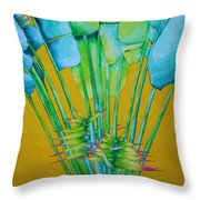 Fan Palm With Yellow Throw Pillow