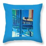 Fan Pier, Boston Throw Pillow