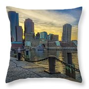 Fan Pier Boston Harbor Throw Pillow