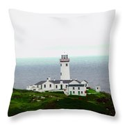 Fanad Head Lighthouse Throw Pillow