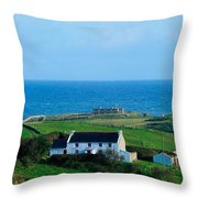 Fanad Lighthouse, Fanad, County Donegal Throw Pillow