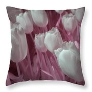 Fanciful Tulips In Pink Throw Pillow