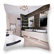 Fancy Bathroom Ensuite Throw Pillow