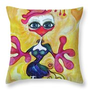 Fancy Chick Throw Pillow