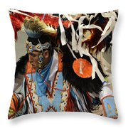Pow Wow Fancy Dancer 1 Throw Pillow