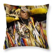 Pow Wow Fancy Dancer 2 Throw Pillow